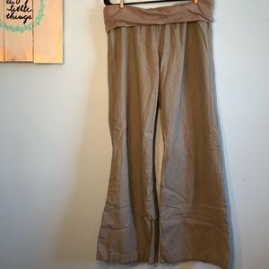 Old Navy fold-over boho pants large